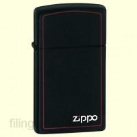 Зажигалка Zippo 1618 ZB Slim Black Matte