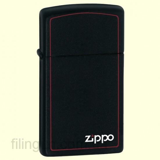 Зажигалка Zippo 1618 ZB Slim Black Matte - фото