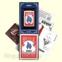 Подарочный набор Zippo 24880 Lighter & Playing Cards