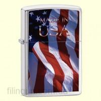 Зажигалка Zippo 24797 Made in USA Flag
