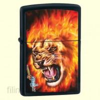 Зажигалка Zippo 28003 MAZZI Flaming Lion Head