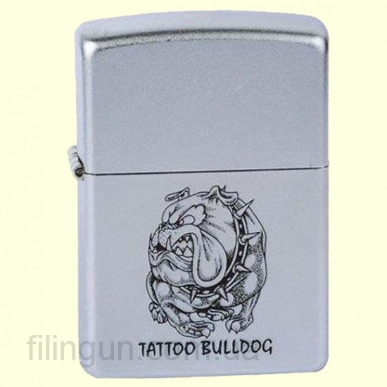 Зажигалка Zippo 220.017 Tatto Bulldog Spike - фото