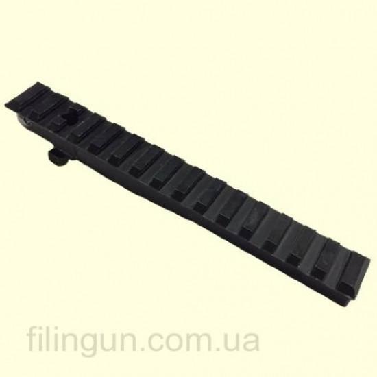 Планка-цілик АК 2000 Weaver/Picatinny для АК, РПК, Сайга, Вепр 16 см