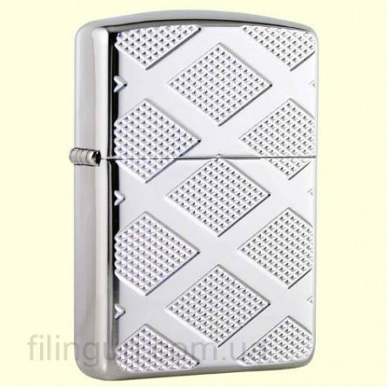 Зажигалка Zippo 28637 Armor Carved Chrome Diamonds