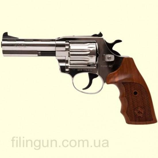Револьвер під патрон Флобера Alfa мод 441 4 мм нікель/дерево