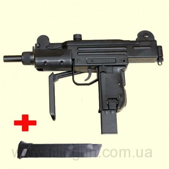 Пневматический пистолет-пулемет KWC UZI KMB 07 + обойма - фото