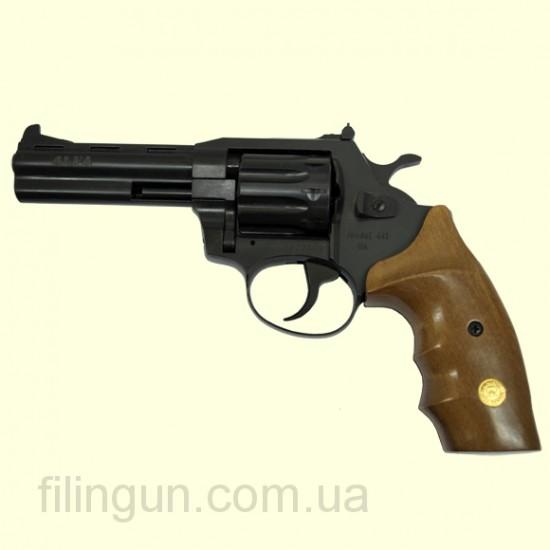 """Револьвер під патрон Флобера Alfa мод 441 4"""" (вороніння, дерево) - фото"""