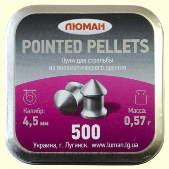 Кулі для пневматичної зброї Люман 0.57 г остроголові 500 шт