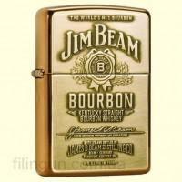 Зажигалка Zippo 254BJB.929 Jim Beam Brass Emblem