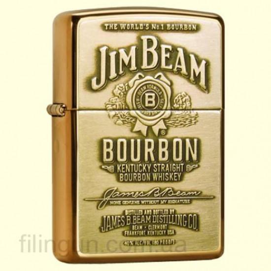 Зажигалка Zippo 254BJB.929 Jim Beam Brass Emblem - фото