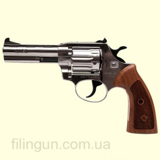 "Револьвер під патрон Флобера Alfa мод 441 Classic 4"" (никель, дерево)"
