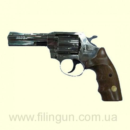 """Револьвер под патрон Флобера Alfa мод 440 4"""" (никель, дерево)"""