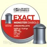 Пули для пневматического оружия JSB Diabolo Exact Monster