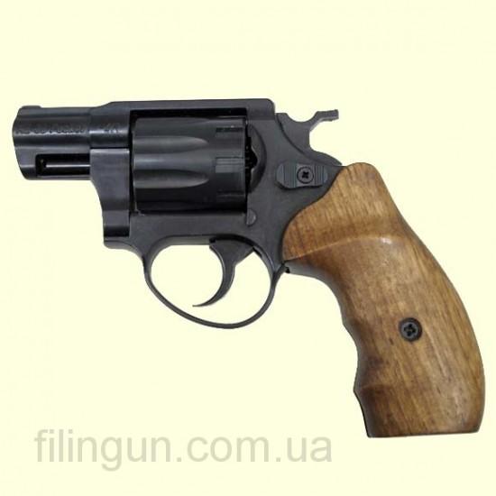 Револьвер под патрон Флобера ME 38 Pocket 4R (чёрный, дерево)