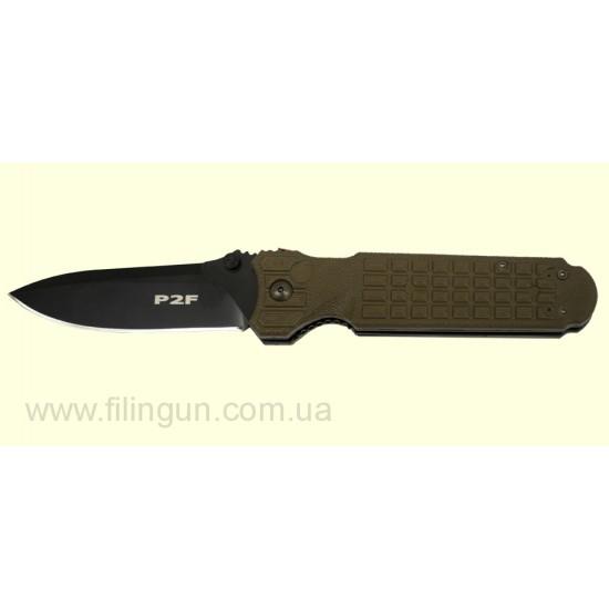 Нож Fox Predator II - 2F Liner lock NATO green FX-446 OD