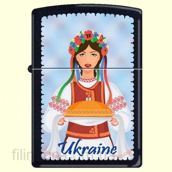 Зажигалка Zippo 218 UW Ukraine Woman Folk Dress