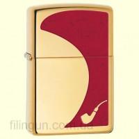 Зажигалка Zippo 28322 Pipe Brass & Red