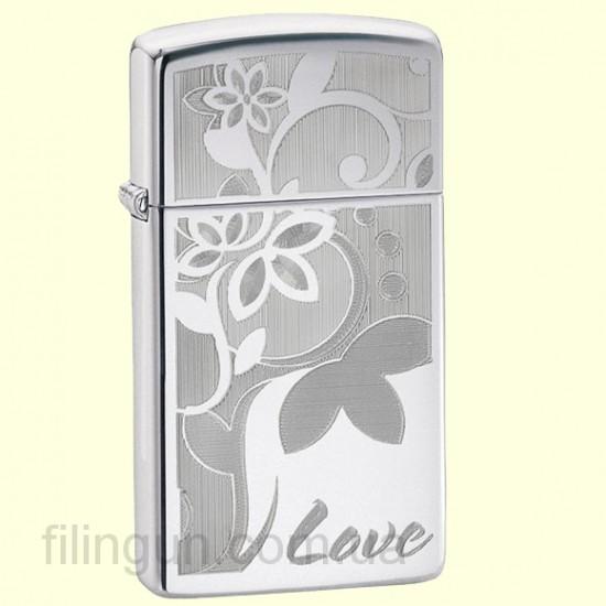 Зажигалка Zippo 24816 Slim Love Flower