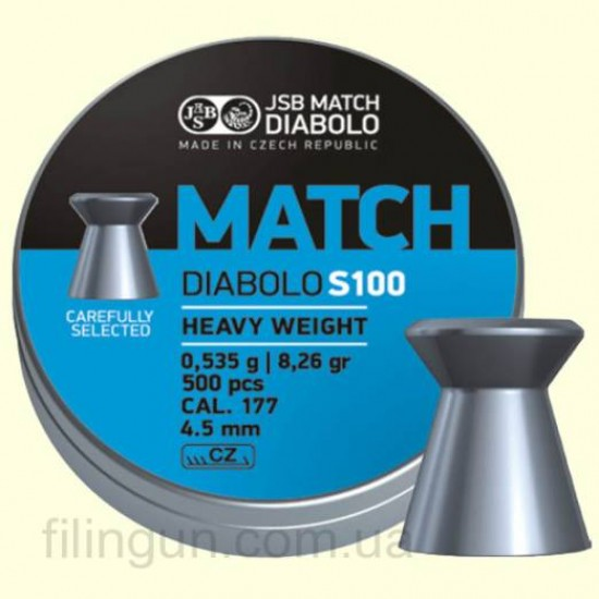 Пули для пневматического оружия JSB Diabolo Match S100 4.51