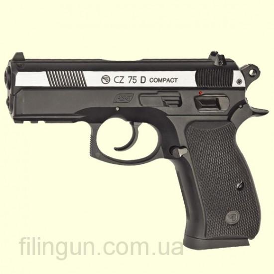 Пневматический пистолет ASG CZ 75D Compact вставка никель DT