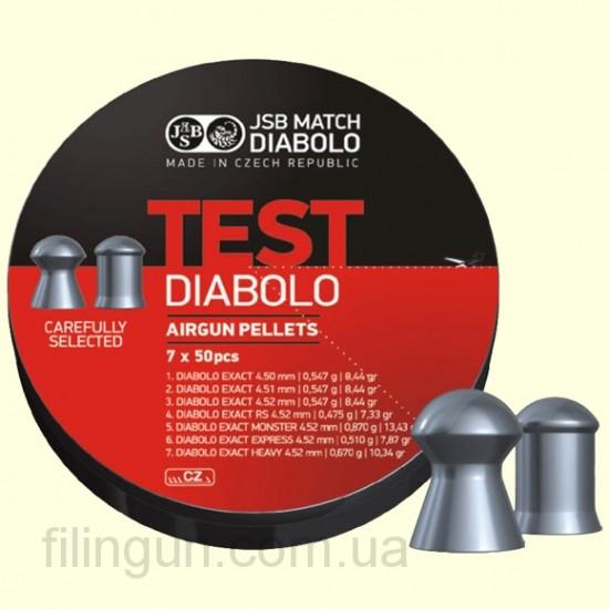 Кулі для пневматичних гвинтівок JSB Diabolo Exact Test
