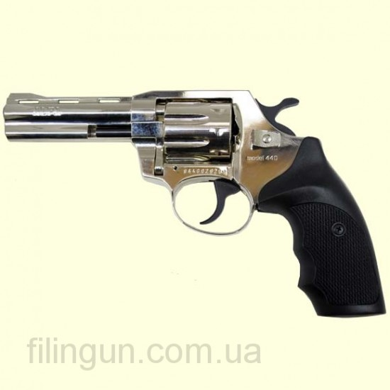 "Револьвер под патрон Флобера Alfa мод 440 4"" (никель, пластик)"