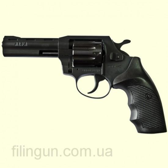 """Револьвер под патрон Флобера Alfa мод 440 4"""" (вороненный, пластик)"""