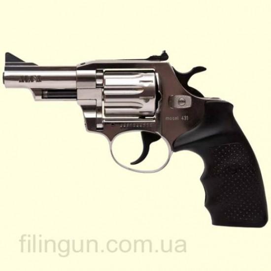 Револьвер под патрон Флобера Alfa мод 431 (никель, пластик) - фото