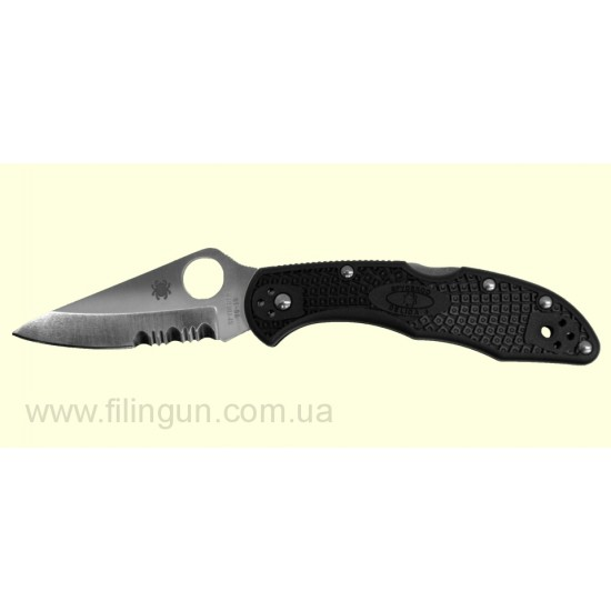 Ніж Spyderco Delica 4 FRN Combination Edge C11PSBK