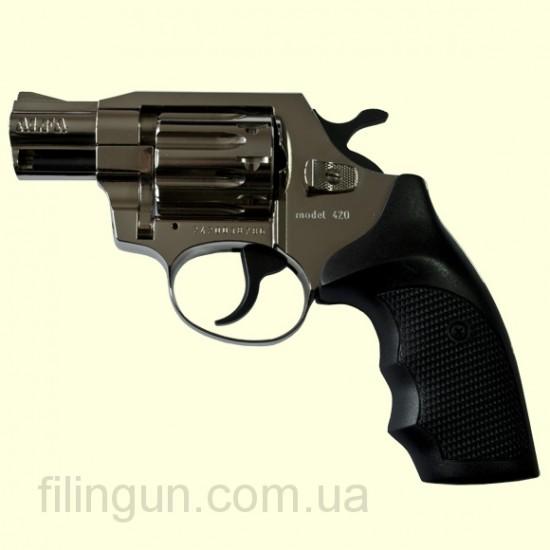 "Револьвер под патрон Флобера Alfa мод 420 2"" (никель, пластик)"