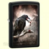 Зажигалка Zippo 28319 Goth Raven Eyeball