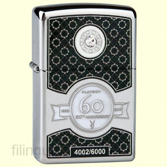 Зажигалка Zippo 28735 Playboy Club 60th Anniversary Limited Edition - фото
