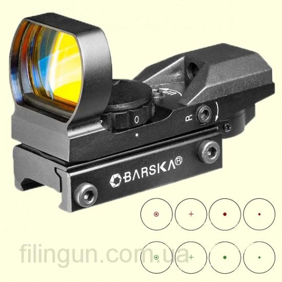Коліматорний приціл Barska Multi Reticle 1x (Red/Green)